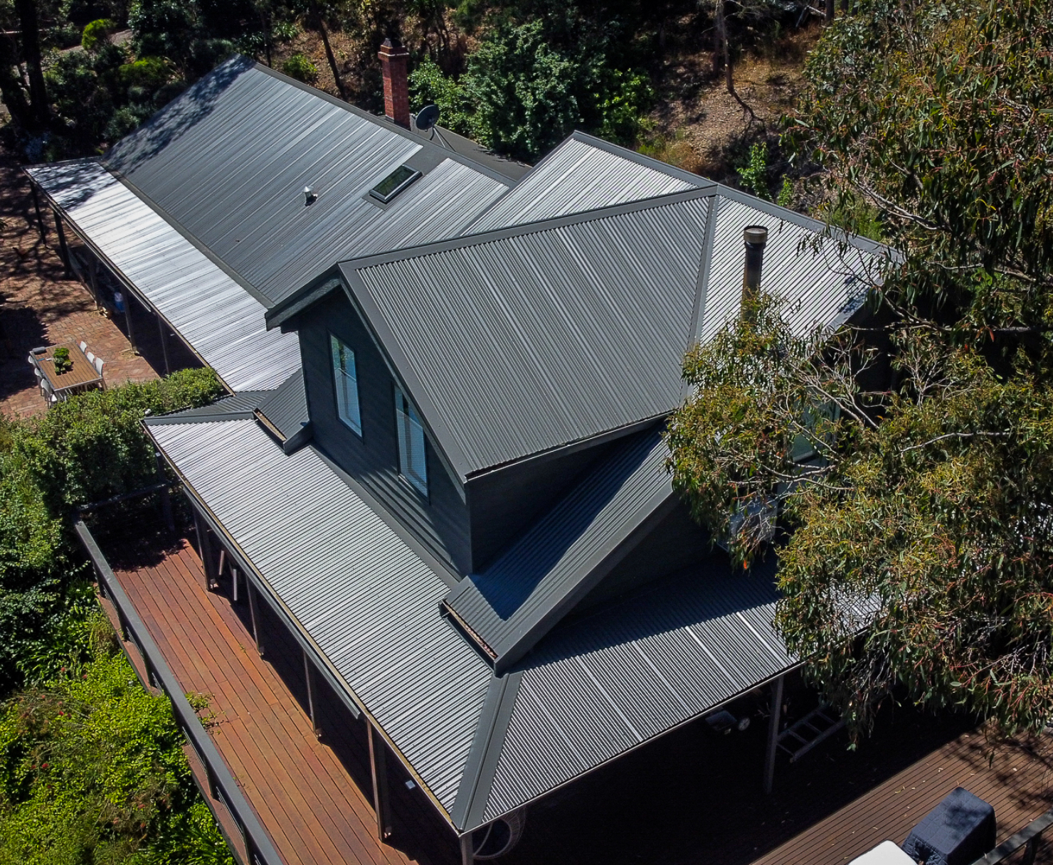 New roof installation at a home in Warrandyte, Victoria.