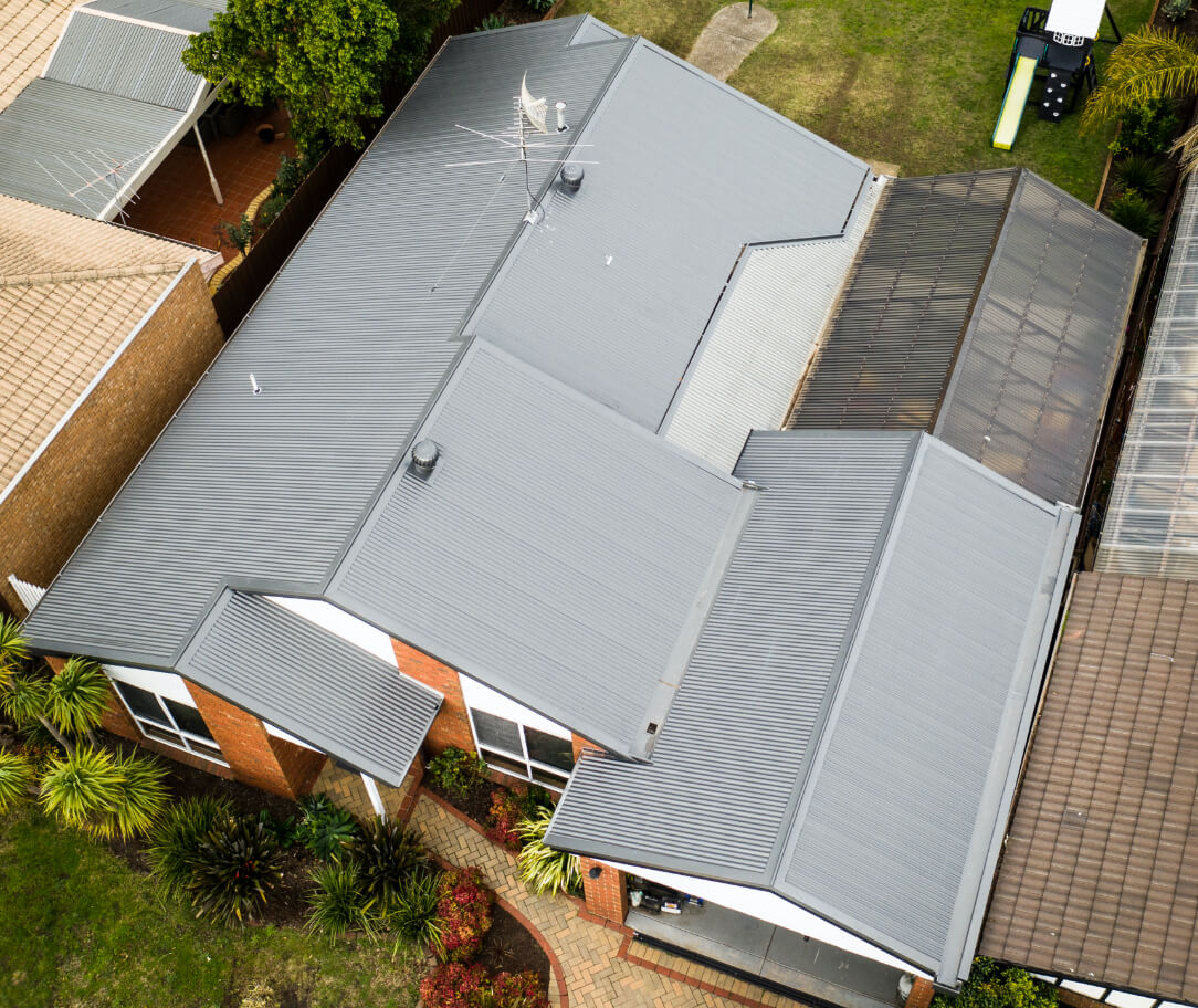 Shale Grey Colorbond colour on a residential roof