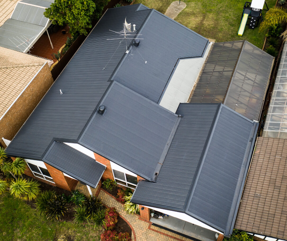 Ironstone Colorbond colour on a residential roof
