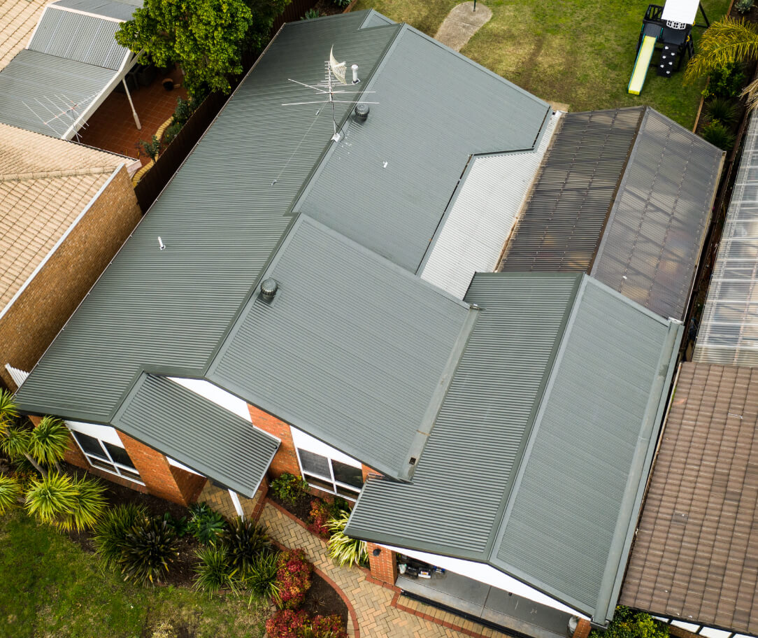 Pale Eucalypt Colorbond colour on a residential roof