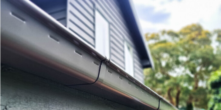 New Colorbond gutters installed
