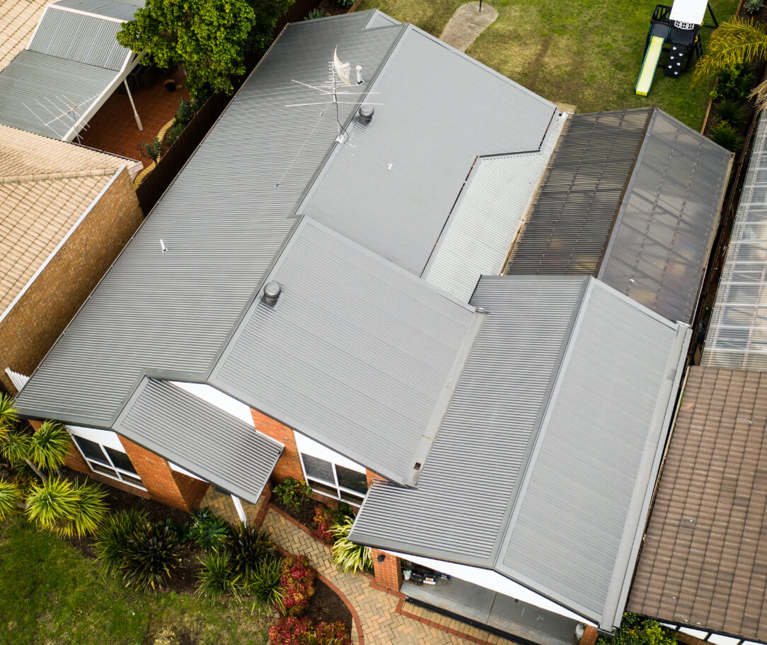 Dune Colorbond colour on a residential roof