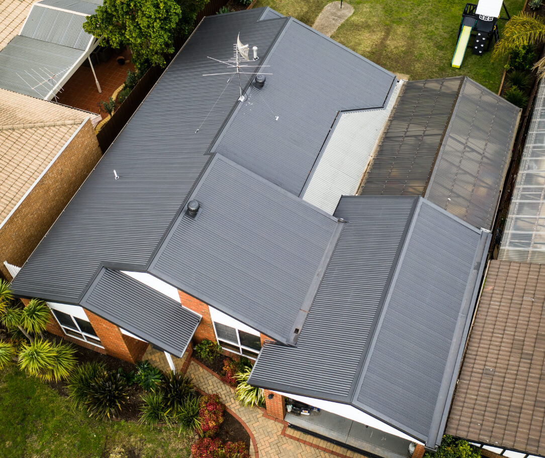 Basalt Colorbond colour on a residential roof