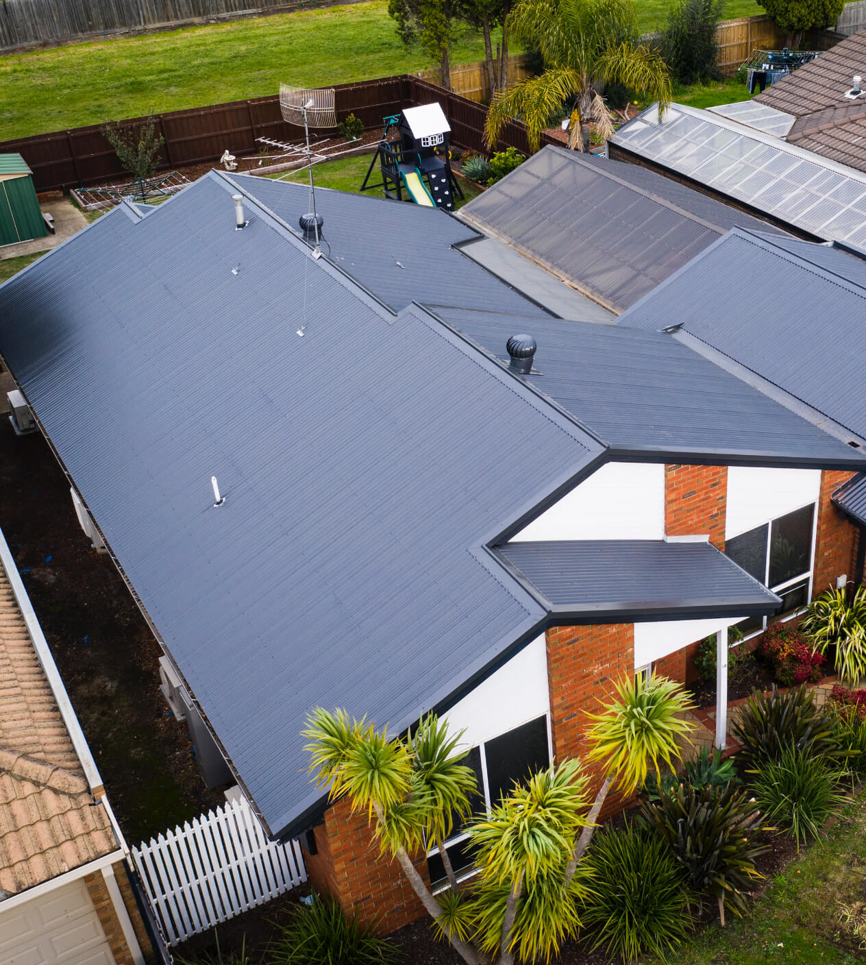 A new Colorbond roof on a home in Mill Park, Melbourne