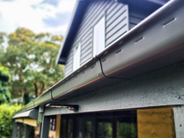 New gutters installed on a Melbourne roof