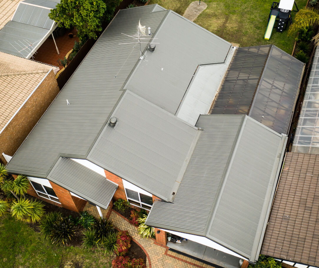 Cove Colorbond colour on a residential roof