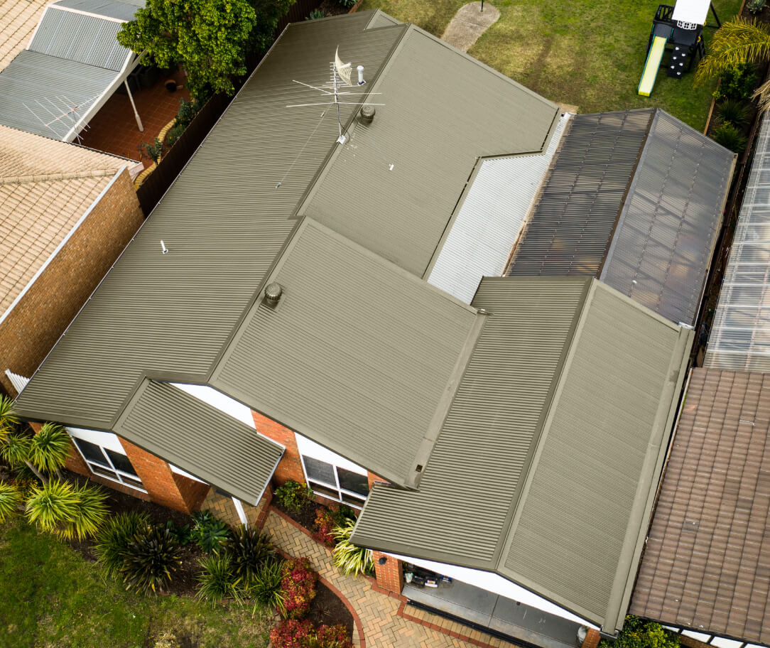 Paperbark Colorbond colour on a residential roof