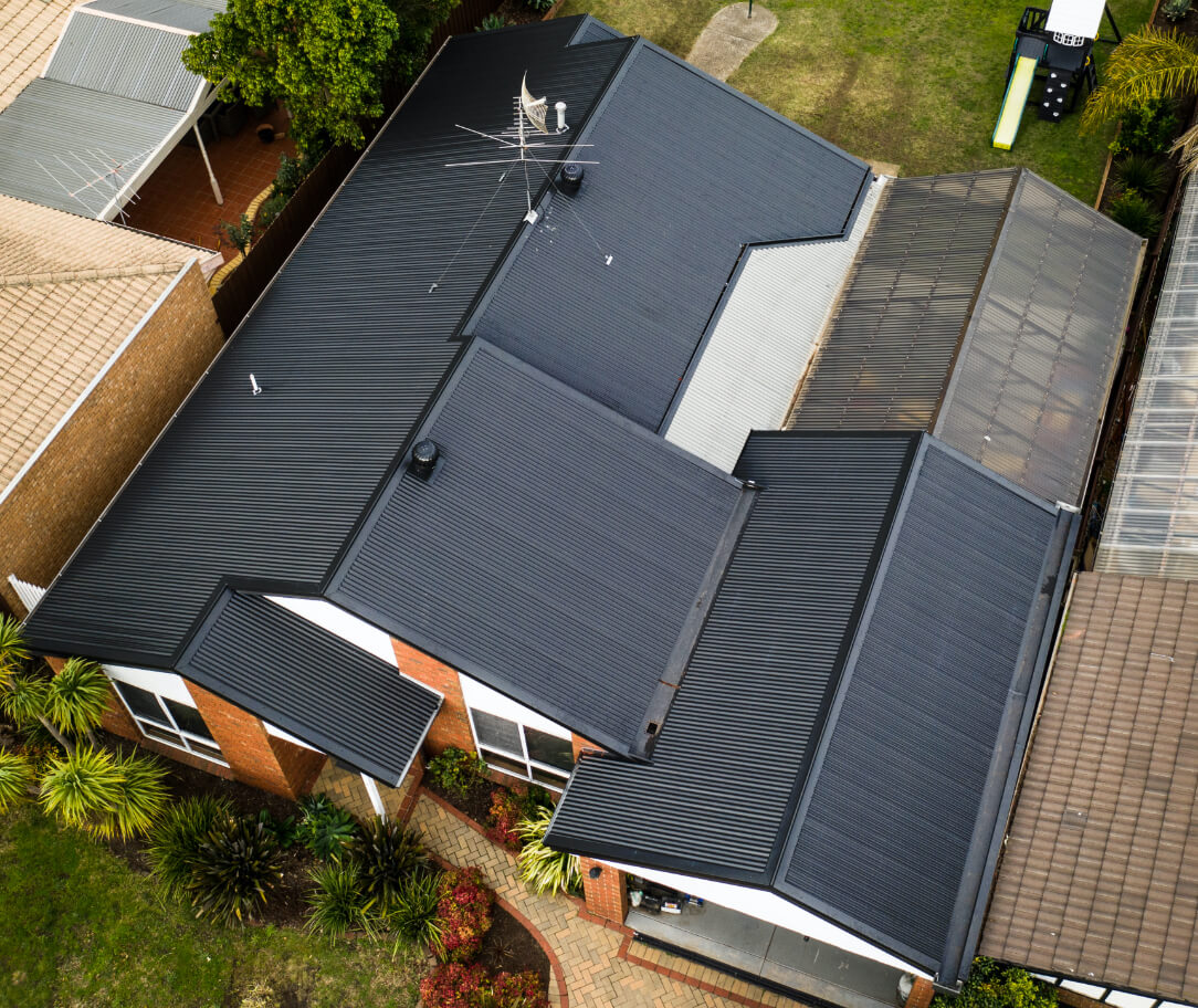 Night Sky Colorbond colour on a residential roof