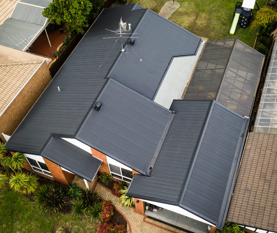 Monument Colorbond colour on a residential roof