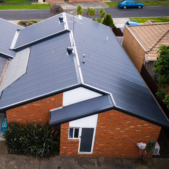Image taken after a Tile to Colorbond roof replacement in Mill Park, Melbourne