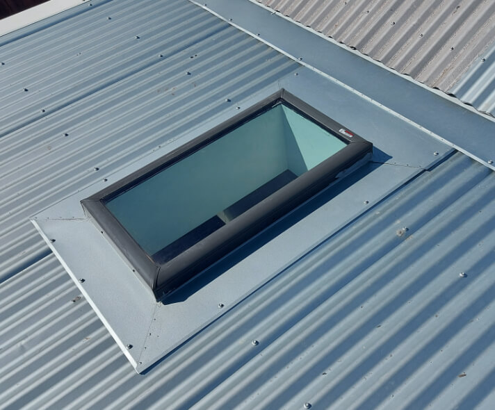 After shot of a skylight repair in Melbourne