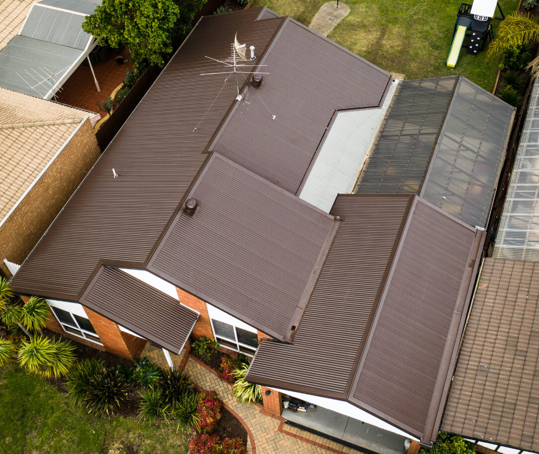 Terrain Colorbond colour on a residential roof