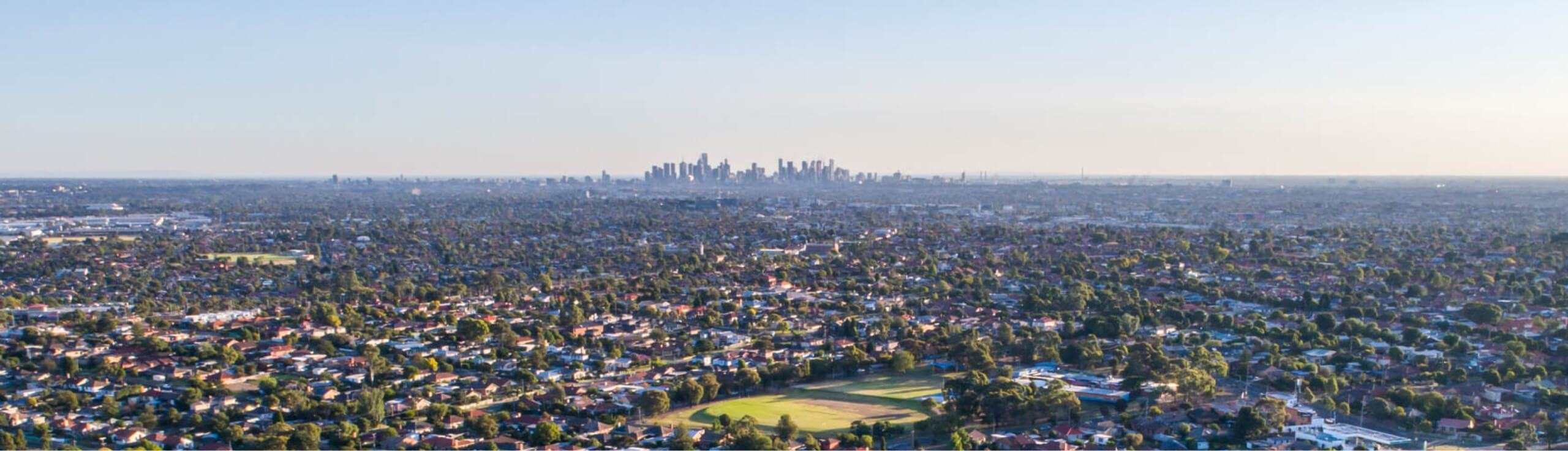 Rooftop image of Melbourne's Northern suburbs