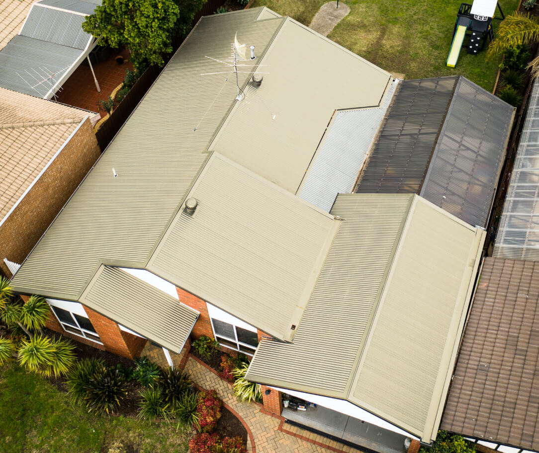 Classic cream Colorbond colour on a residential roof