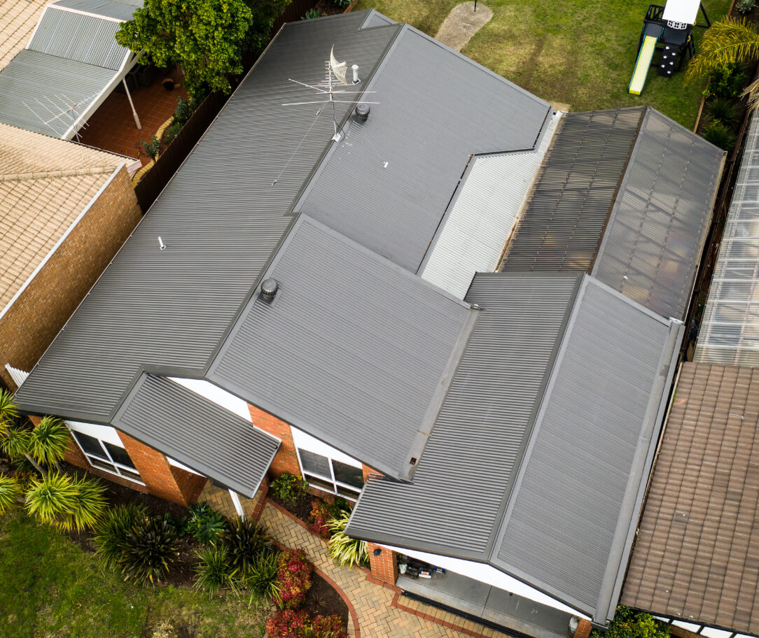 Gully Colorbond colour on a residential roof
