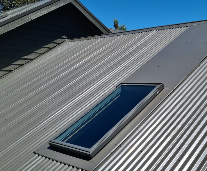 A new Velux skylight on a Melbourne roof