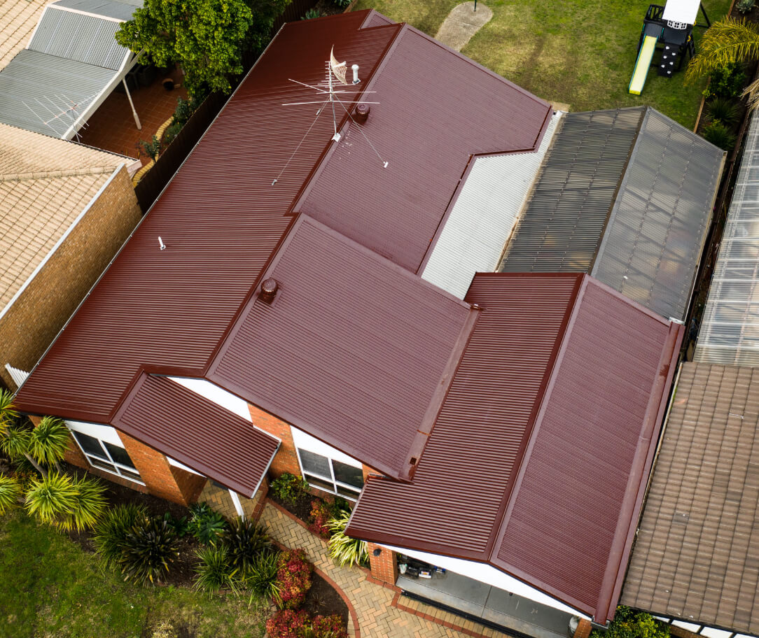 Manor Red Colorbond colour on a residential roof