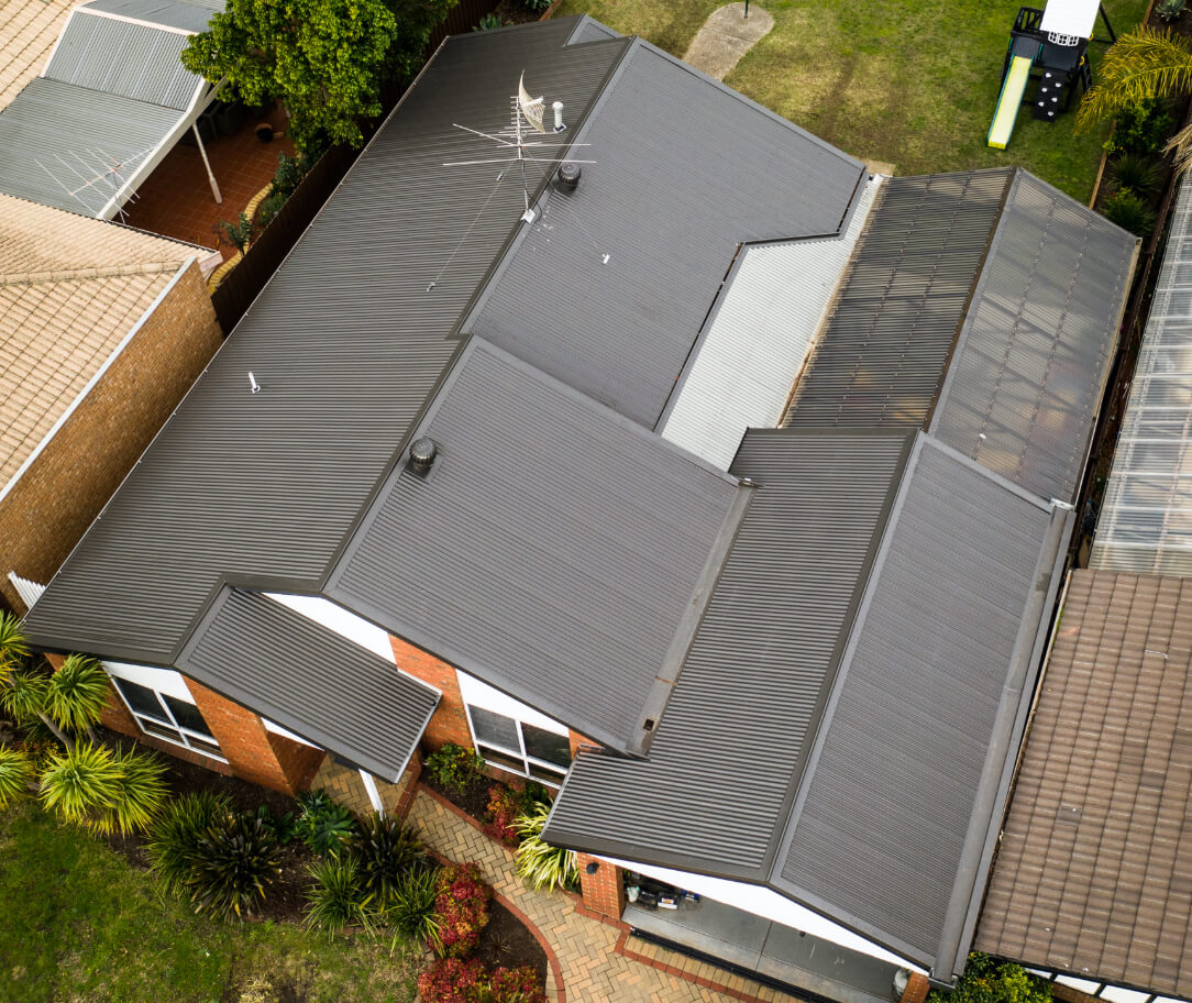 Jasper Colorbond colour on a residential roof