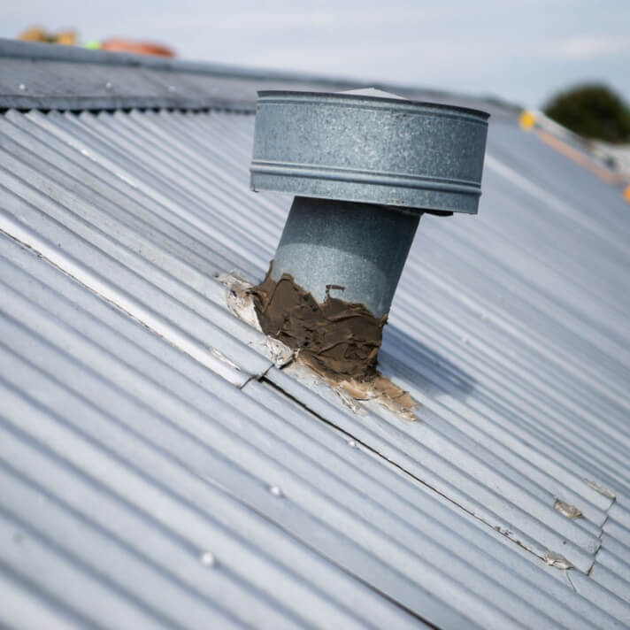 A leaking rusted roof in Melbourne