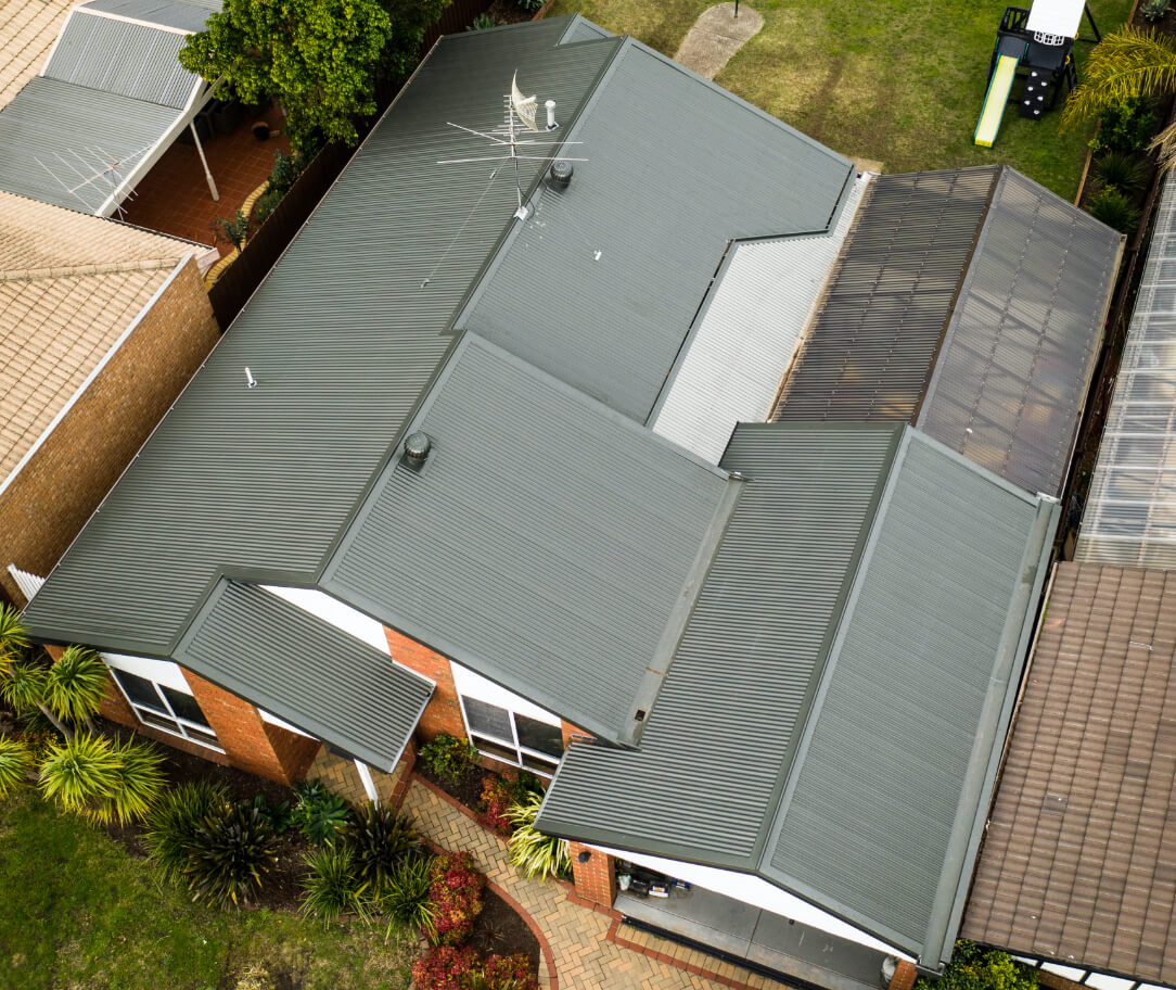 Mangrove Colorbond colour on a residential roof