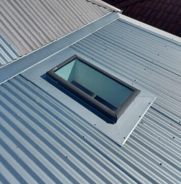 A skylight installed in a Melbourne Roof