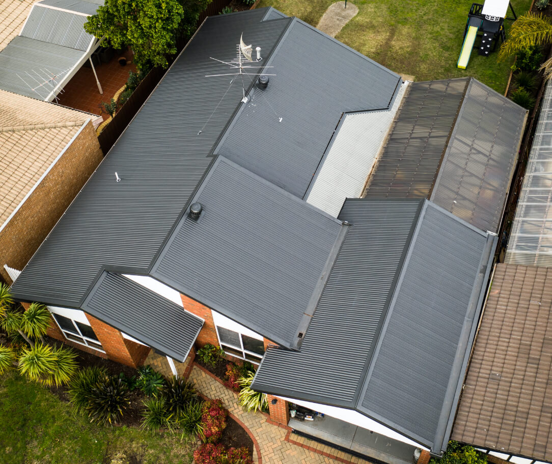 Woodland Grey Colorbond colour on a residential roof