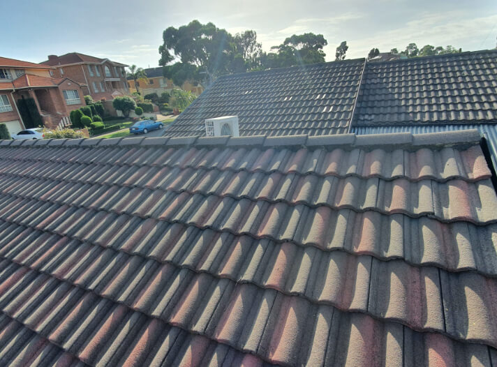 Roof tiles before roof replacement