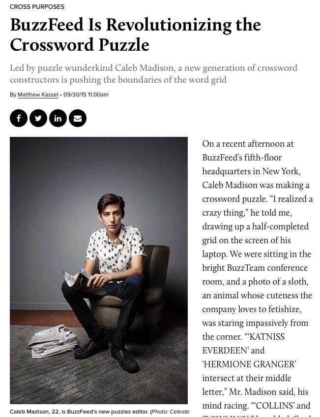 Artigo de Caleb Madison no jornal The Observer