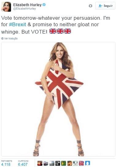 Elizabeth Hurley Brexit