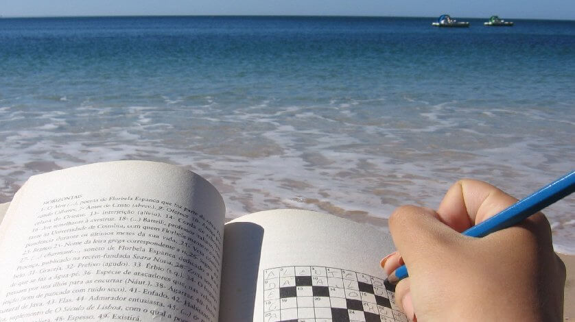 Palavras Cruzadas na Praia