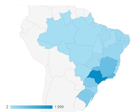 Visitantes do Brasil no portal de palavras cruzadas 10 meses