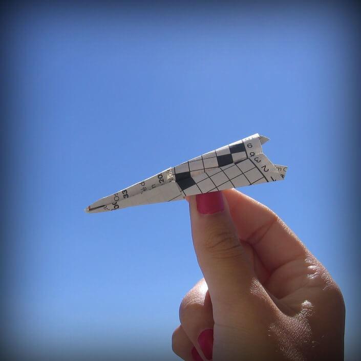 Avião de Palavras Cruzadas