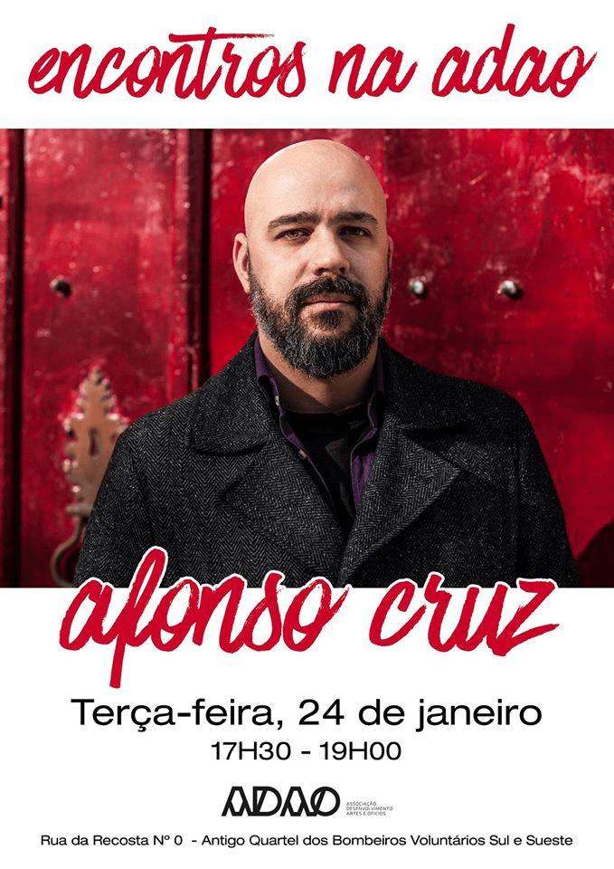 Cartaz Afonso Cruz na Associação Desenvolvimento Artes e Ofícios