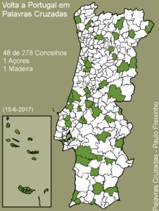 Volta a Portugal em Palavras Cruzadas - mapa 50