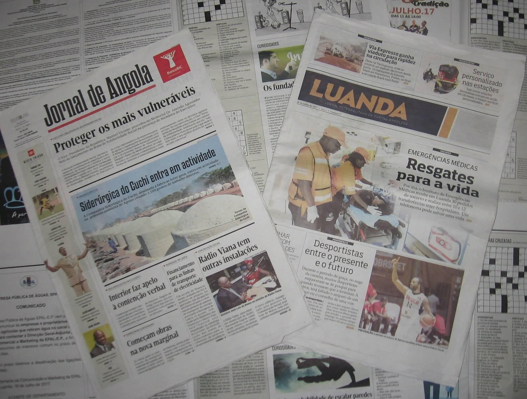 Jornal de Angola Palavras Cruzadas