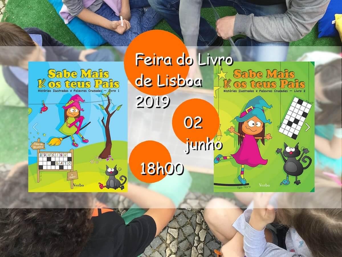 Cartaz Sabe Mais K(que) os teus pais da Feira do Livro de Lisboa 2019