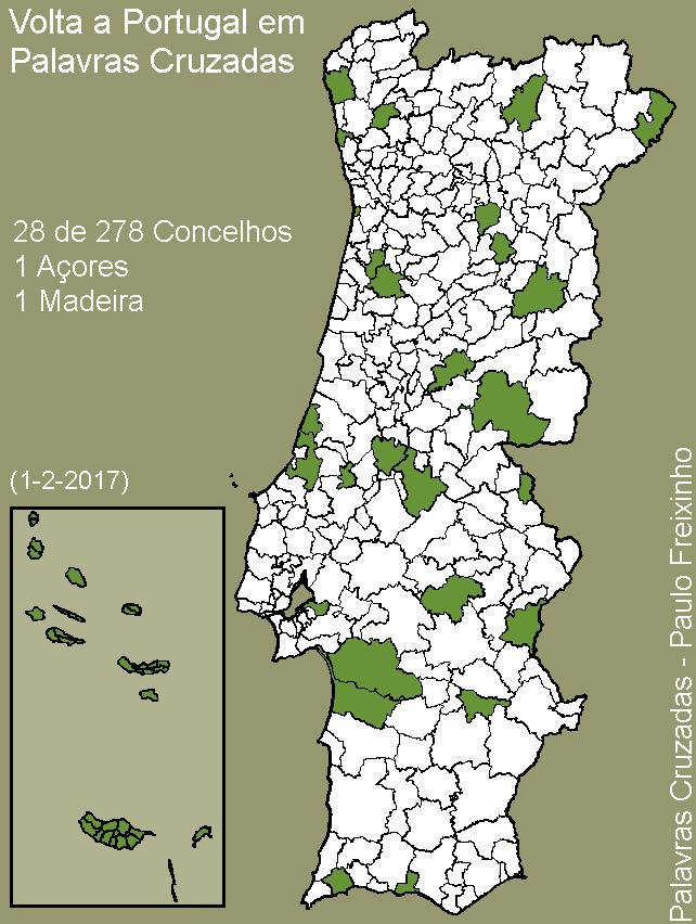 Volta a Portugal em Palavras Cruzadas - mapa 30