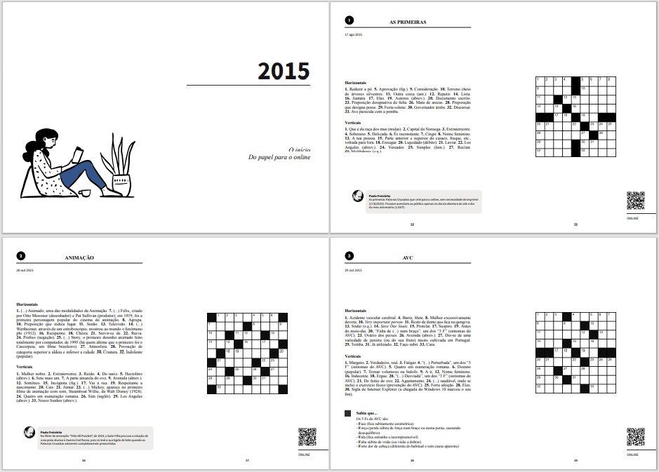 Livro Palavras Cruzadas 2015-2020 - Miolo