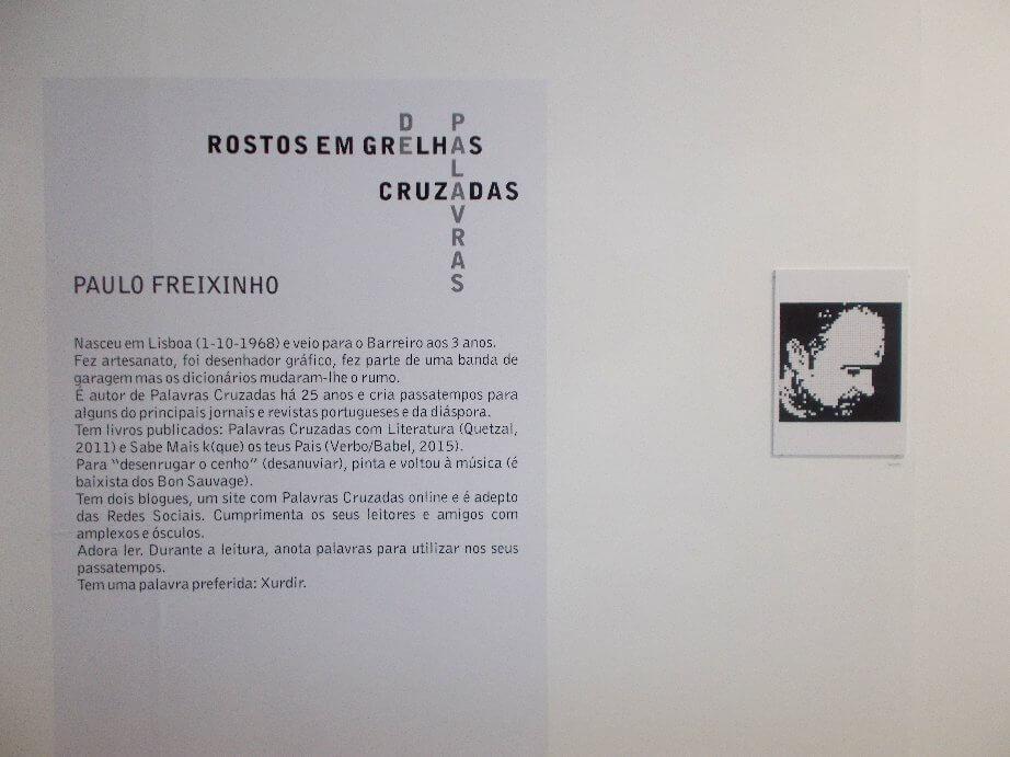 Exposição Rostos em Palavras Cruzadas - AMAC Corredor da Exposição Rostos em Grelha de Paulo Freixinho  Exposição Rostos em Grelhas de Paulo Freixinho         