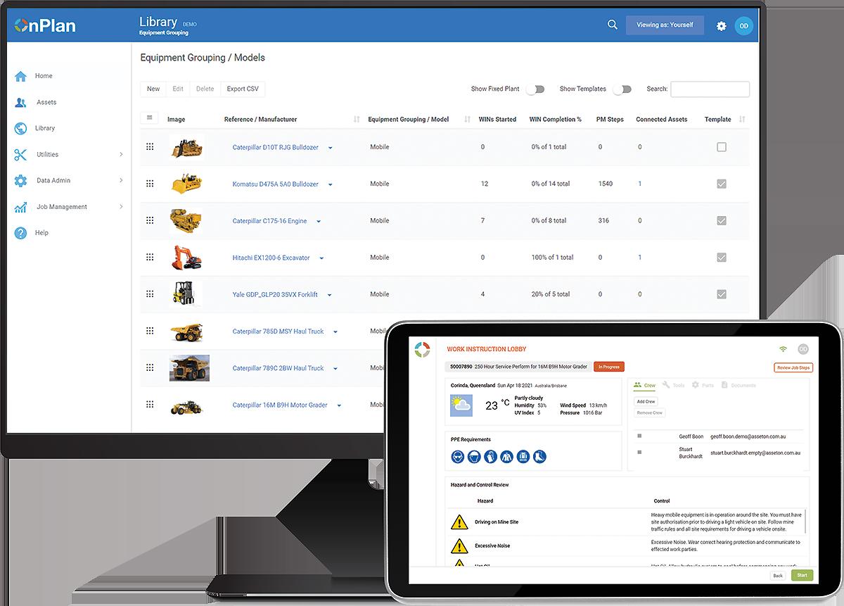 OnPlan work management software screenshot.