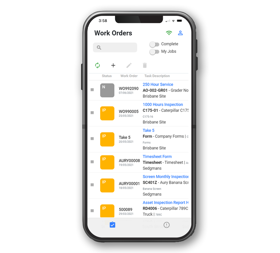 Maintenance SAP work orders on iphone for asset managers and engineers.