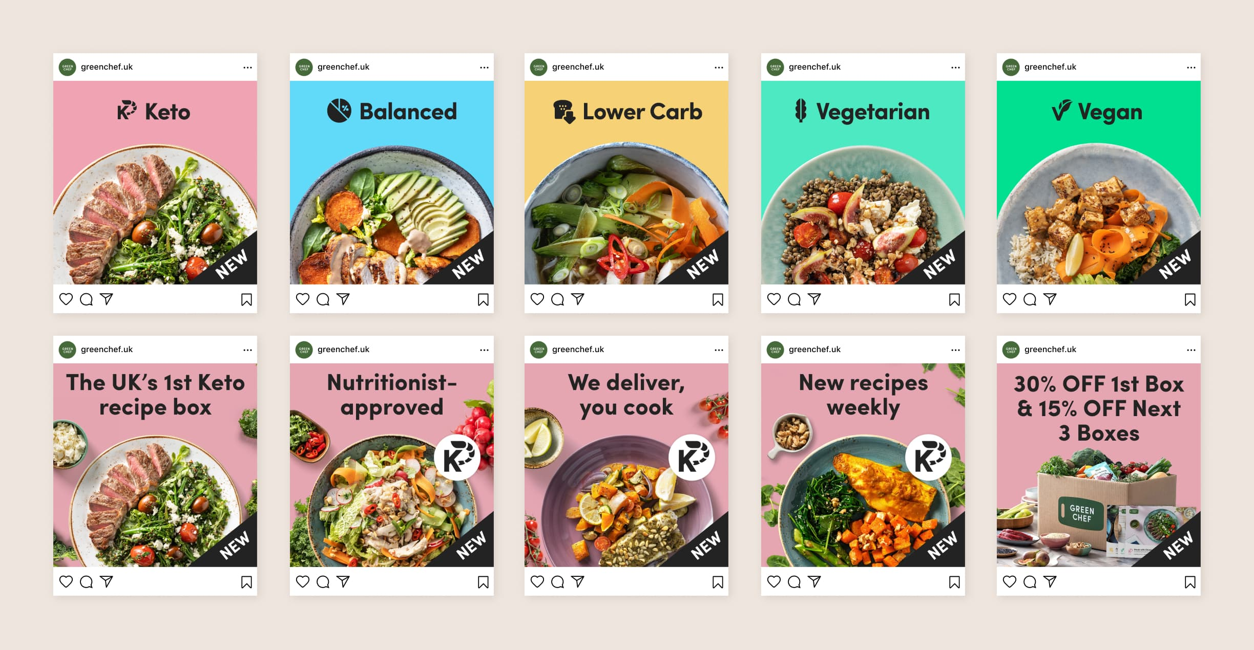 Variety and Keto Carousels for Facebook and Instagram