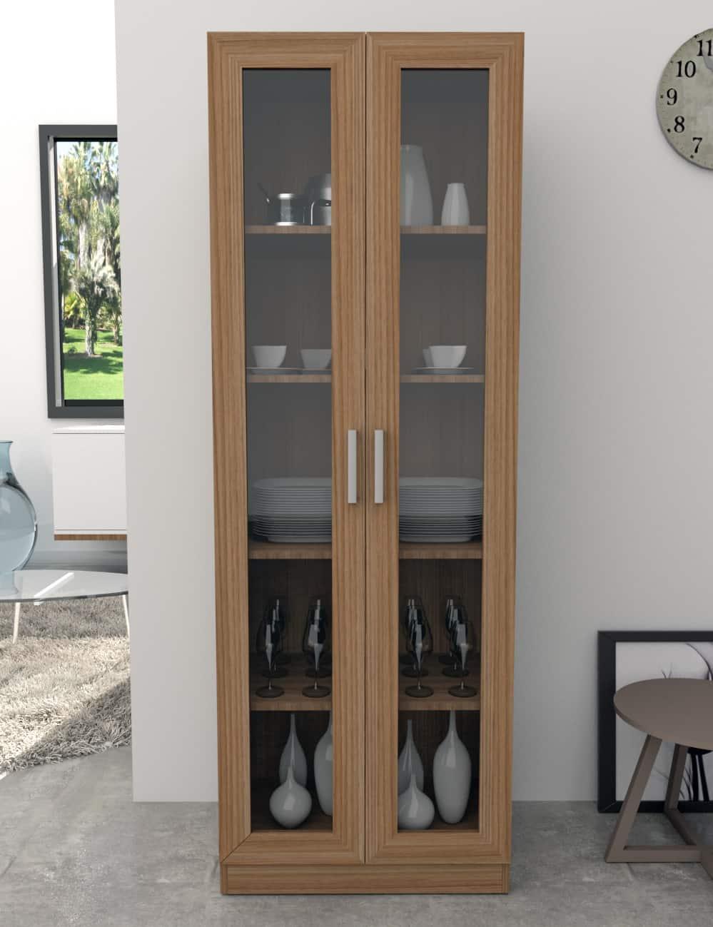 armário para escritório com portas de vidro