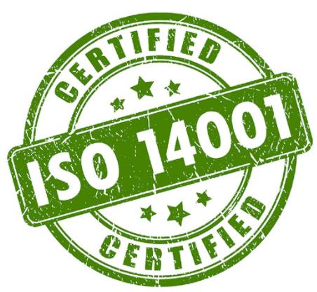 ISO 14001 sertificate