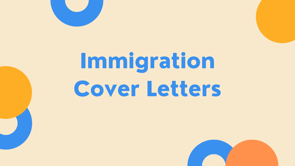 Immigration Cover Letter Template