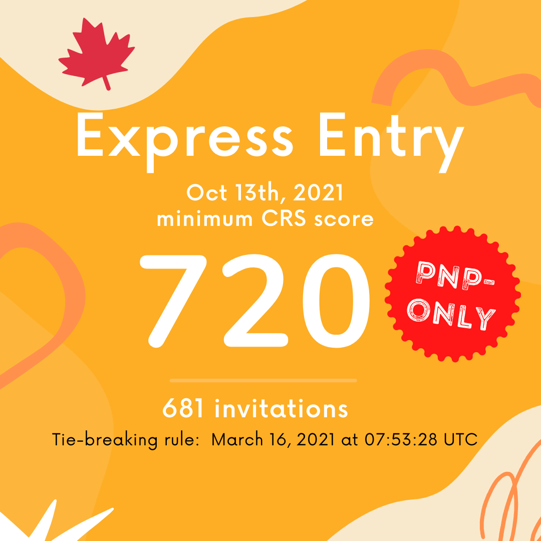 Canada Express Entry Latest Draw 2021 Oct 13