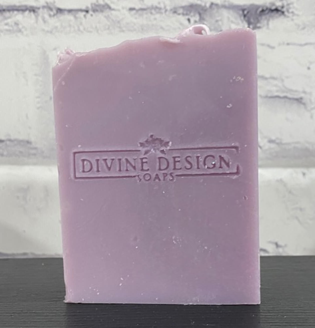 Green and purple colored soaps.