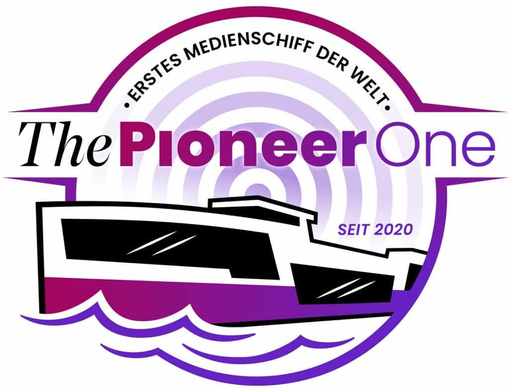 ThePioneer One - Erstes Medienschiff der Welt - Logo