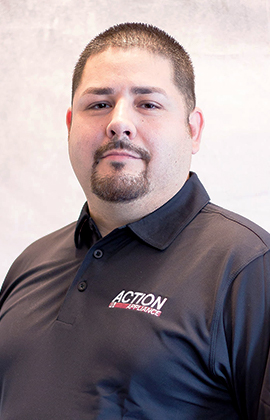 Photo of Greg. Lead technician for Action Appliance