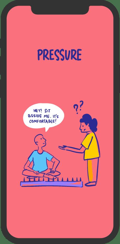 mobile illustration with pressure wallpaper